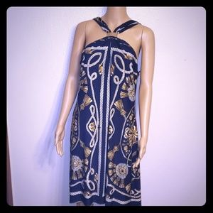 Nautical print sleeveless dress